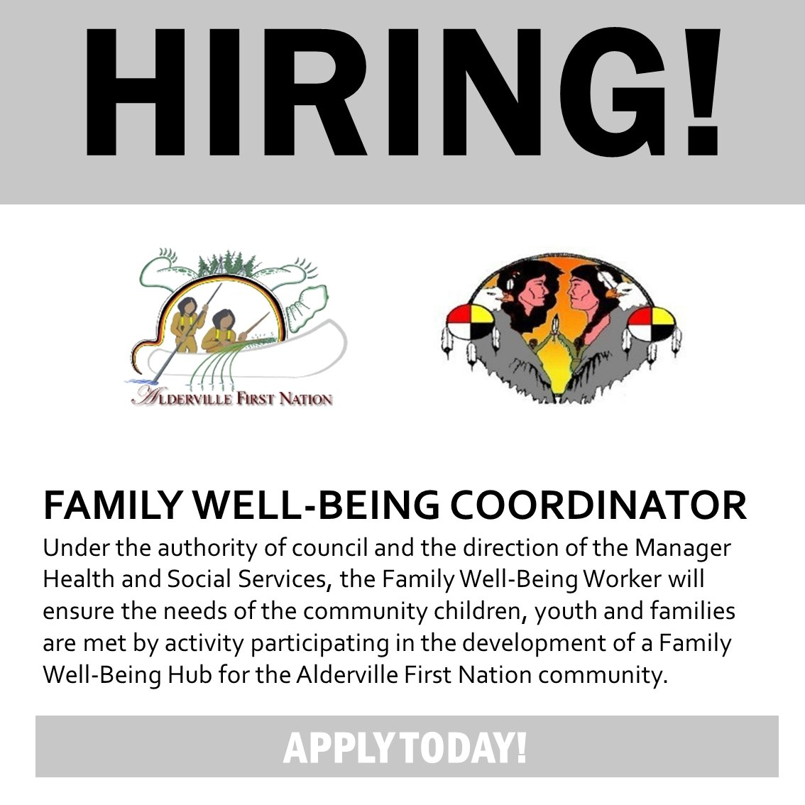 #Employment Opportunity Family Well-Being Coordinator - Alderville #FirstNation Deadline: Sept 28.  http:// anishinabeknews.ca/2017/08/31/fam ily-well-being-coordinator/ &nbsp; … <br>http://pic.twitter.com/snq6wGCC3P