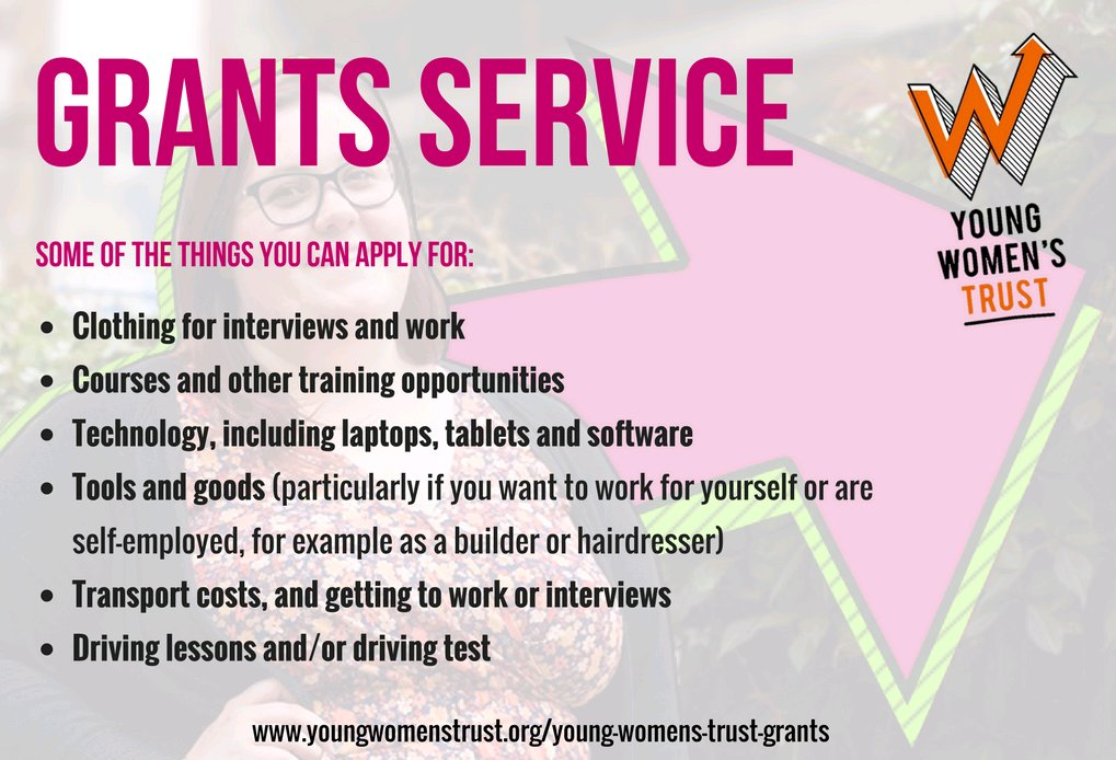 #Grants are available to young women worth up to £500 from @YWTrust to help them find work:  http:// ow.ly/pSd030dqKl8  &nbsp;  <br>http://pic.twitter.com/WIMlRp53sM