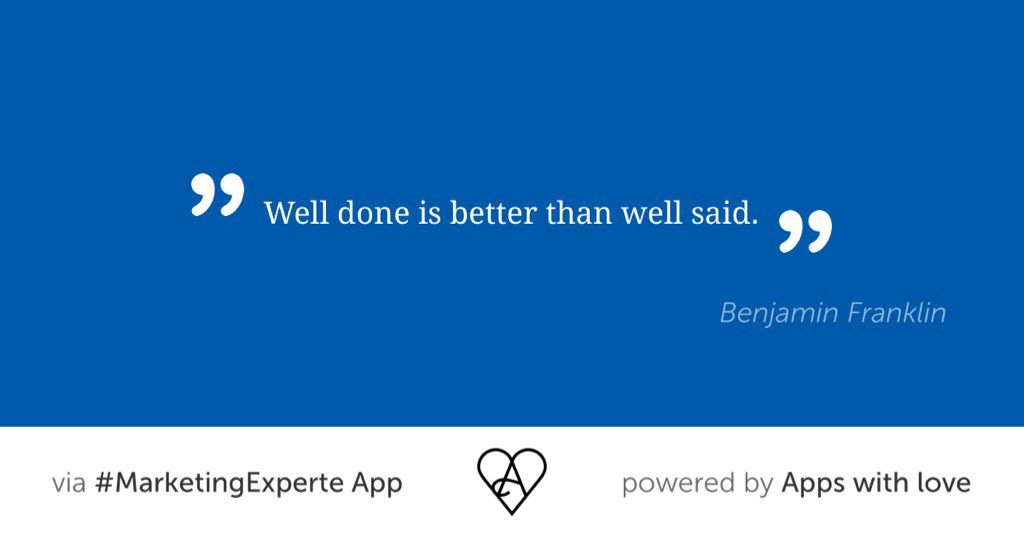 Quote shared via #MarketingExperte App from @appswithlove #quoteoftheday <br>http://pic.twitter.com/PvCG3JwDRd