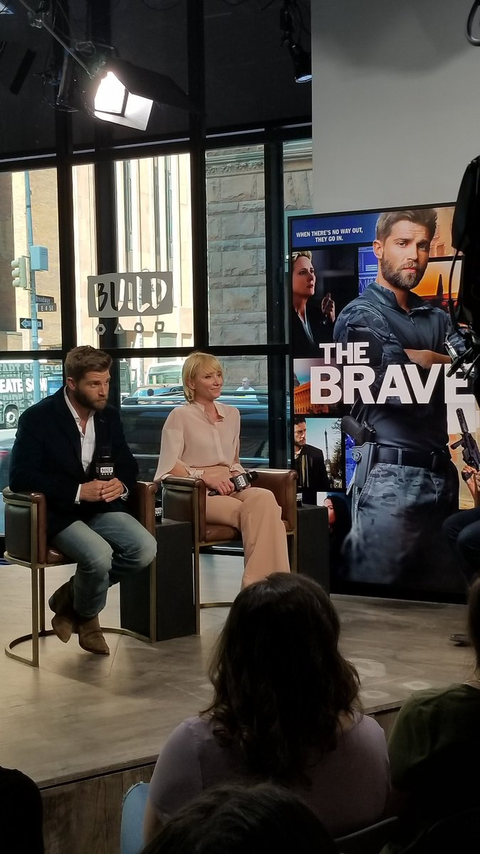 Had a blast talking about @NBCTheBrave at @BUILDseriesNYC! #TheBrave h...