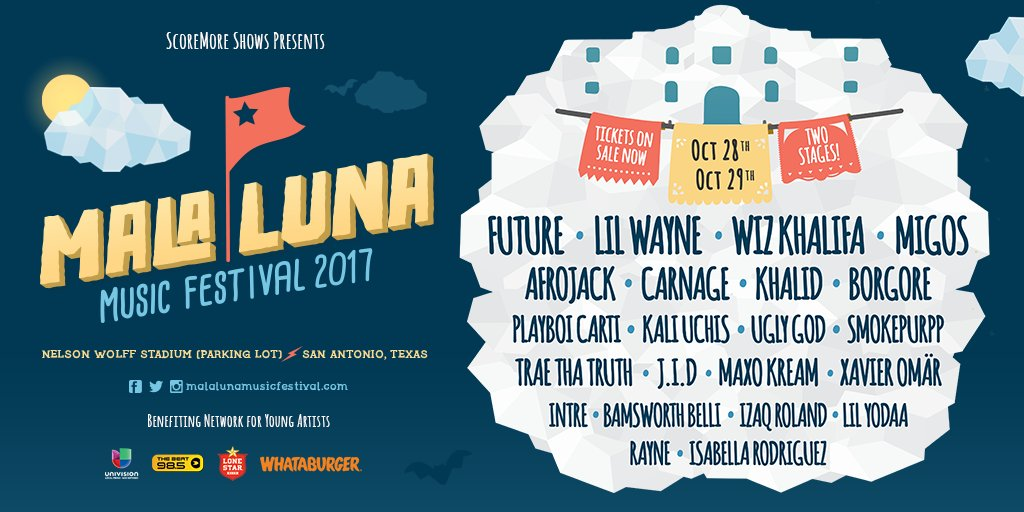 Hey Austin! RT for a chance to win a pair of tickets to #MALALUNA2017 *Must be following @malalunafest to win https://t.co/iS7Jn6zYQu