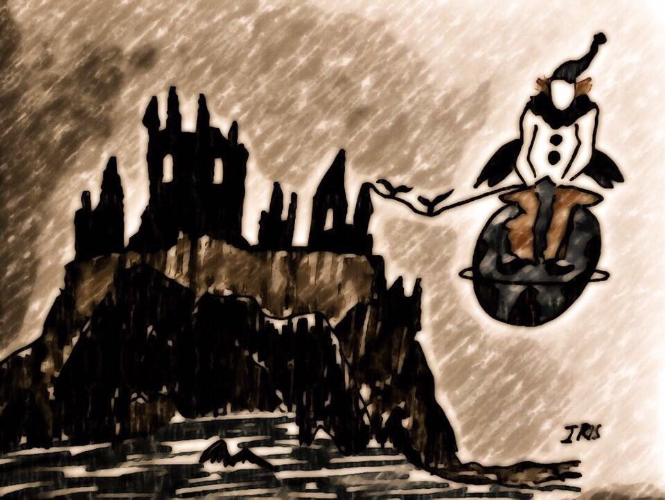 ©The castle and the clown, painted by @IRISUNART  #irisunart #artist #art #watercolor #artsy #draw #drawing #creative #gallery #artoftheday<br>http://pic.twitter.com/4Of2yT9klm