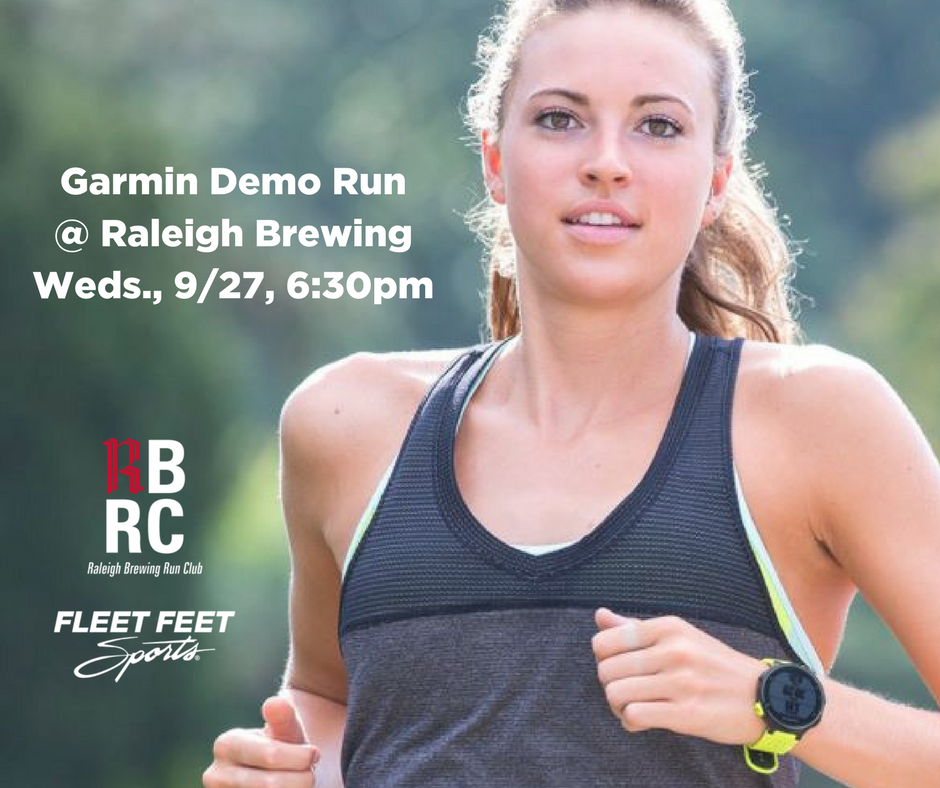 test Twitter Media - Join us this Wednesday at @RaleighBrewing for run club! Karen from @Garmin will be on hand with demo watches. Take one for a spin. https://t.co/h8FFy2HY56