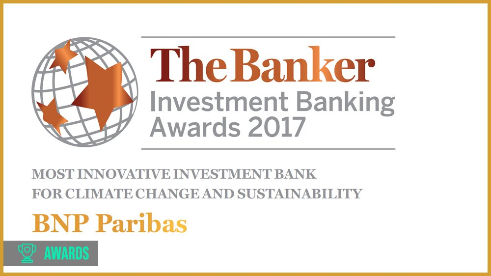 .@BNPParibas awarded by the @TheBanker for its actions in favor of #ClimateChange &amp; #sustainability! @BNPParibasCIB  http:// ow.ly/M9xk30fpu7C  &nbsp;  <br>http://pic.twitter.com/EWbFQ12vvI