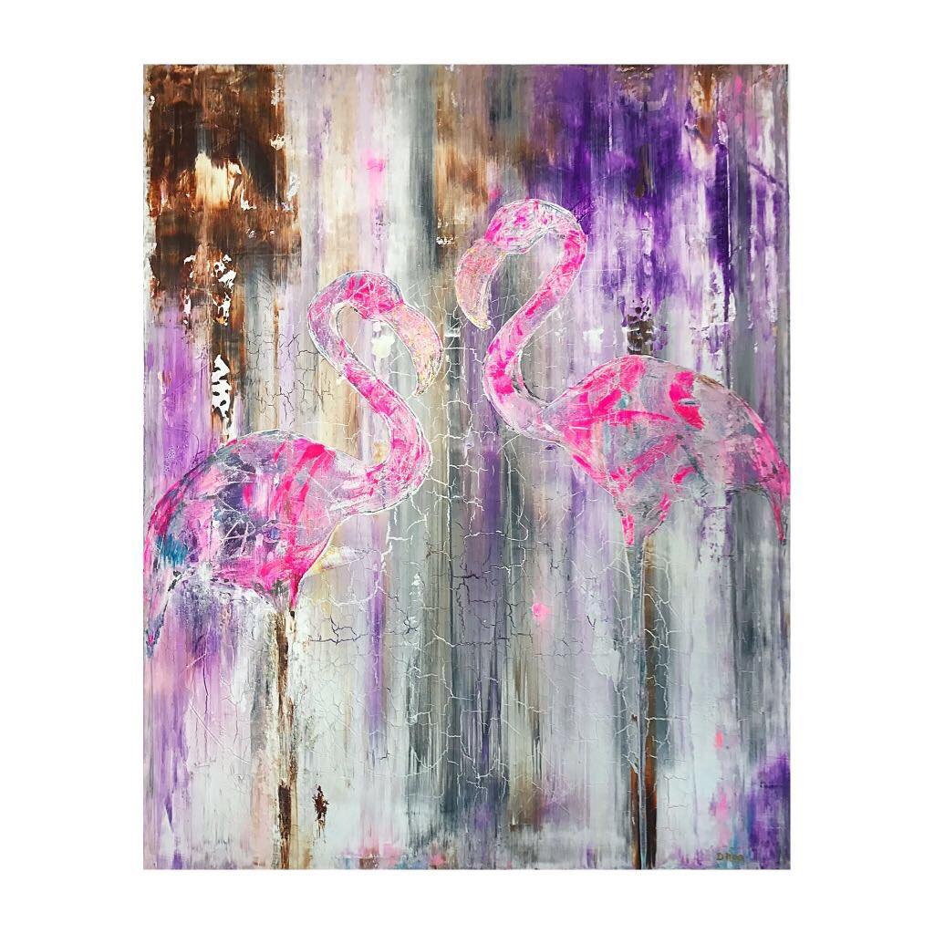New From Me Flamingos #Flamingo #Art #Wildlife #abstract #painter #birds #pink #designer<br>http://pic.twitter.com/vSXVKh0Cud