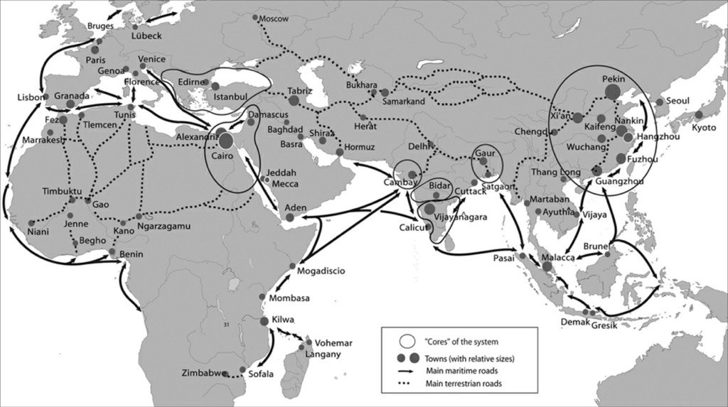 Bram hubbell on twitter afroeurasian trade an updated strayer map an updated strayer map of 13th 14th century trade and an afroeurasian world system in the 15th century whapchat httpstjgegcy8djf gumiabroncs Gallery