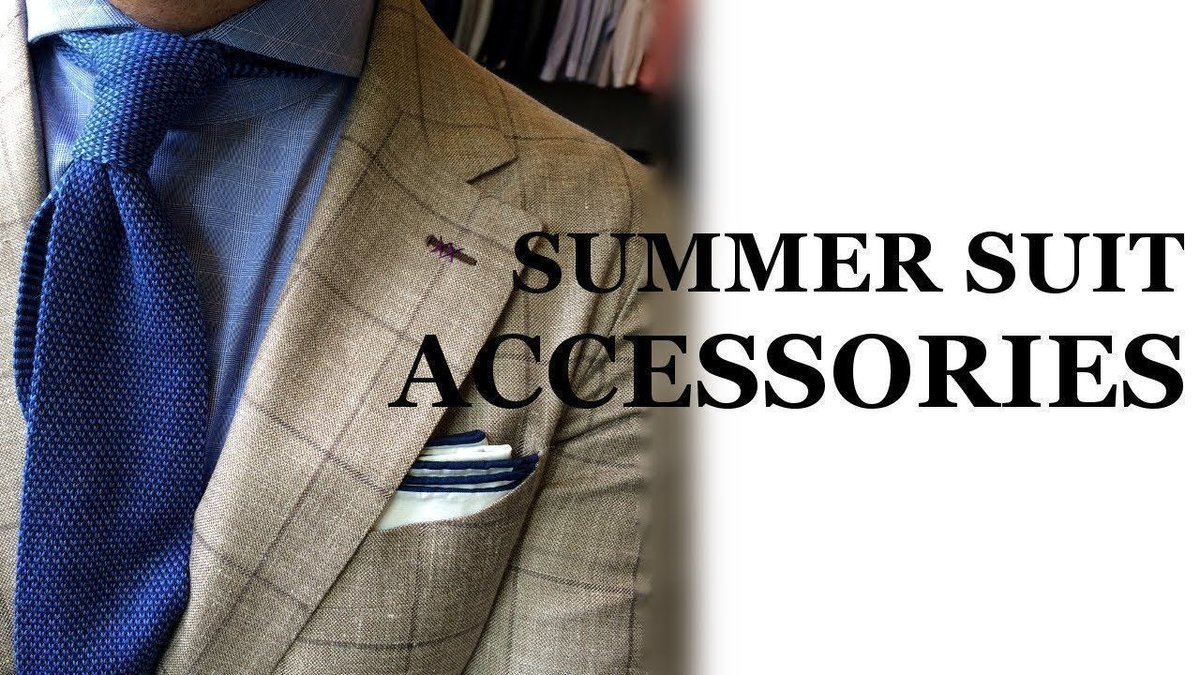 Spice up your ensembles by accessorizing your summer suits! Check out this detailed video!   https:// buff.ly/2fMPaw5  &nbsp;    Pls RT!  #mensstyle <br>http://pic.twitter.com/aU9z8m7M6L