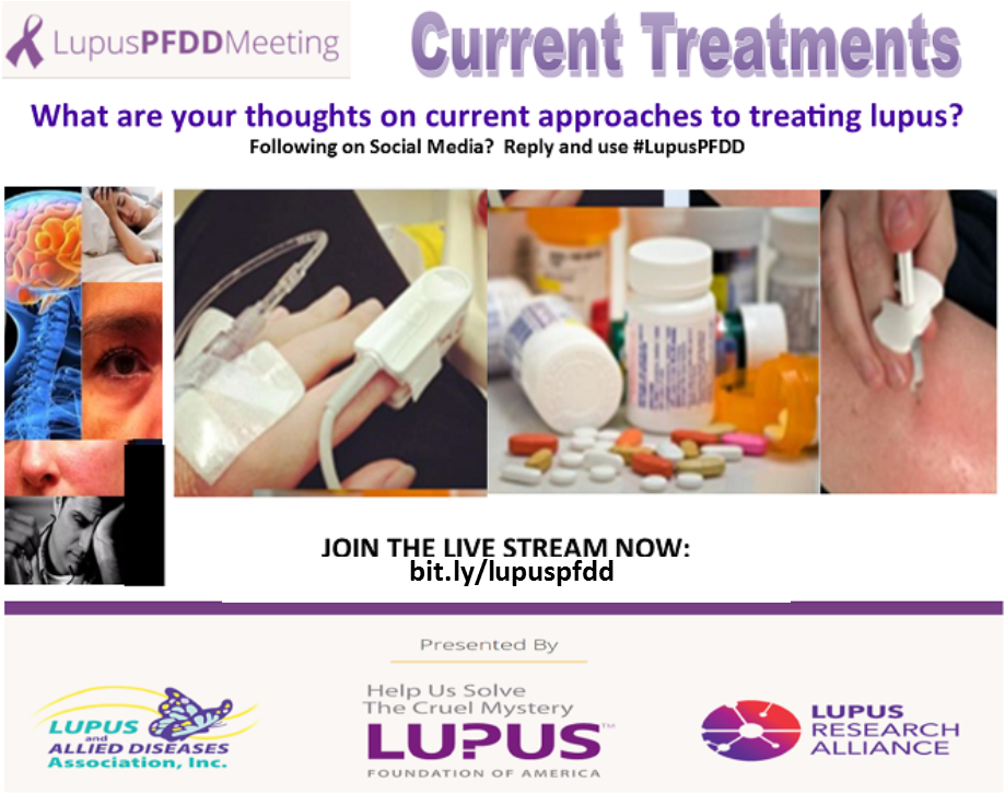 Patient perspectives to treatments 4 #lupus: Downsides? Ideals? What influences your decisions?  #LupusPFDD<br>http://pic.twitter.com/8TYngbLvkd