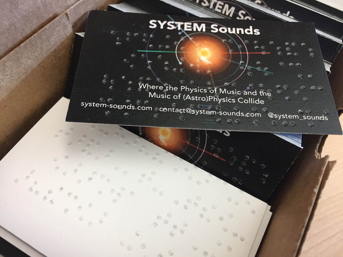 Our #braille biz card arrived! We&#39;re working on some big plans to help improve the #accessibility of #astronomy to the #blind, stay tuned!<br>http://pic.twitter.com/vRMkcqsuLn