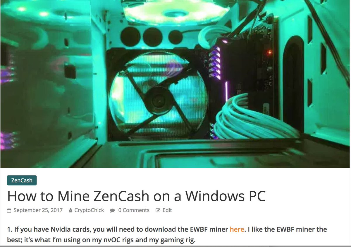 Voskcoin On Twitter Ever Wondered How To Mine On Your Windows Pc We Have A New Guide Posted Https T Co Lcvbykyufs Zencash