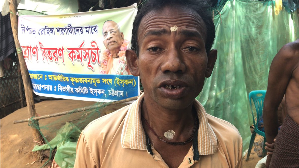 Hindu refugee from #Myanmar tells of squad dressed in black wearing masks &amp; killing both Muslims &amp; Hindus. In Kha Maung Seik. Video soon. <br>http://pic.twitter.com/U7zsaejwWU