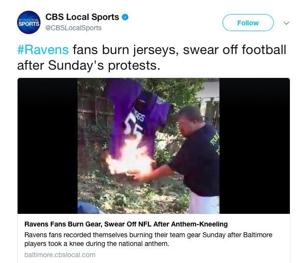 ray rice jersey burning