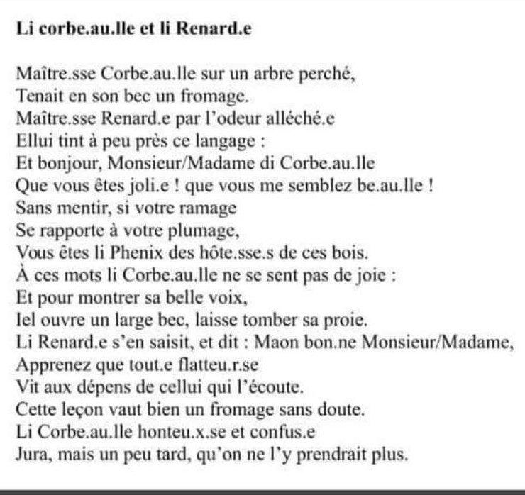 Le Corbeau Et Le Renard Texte Word