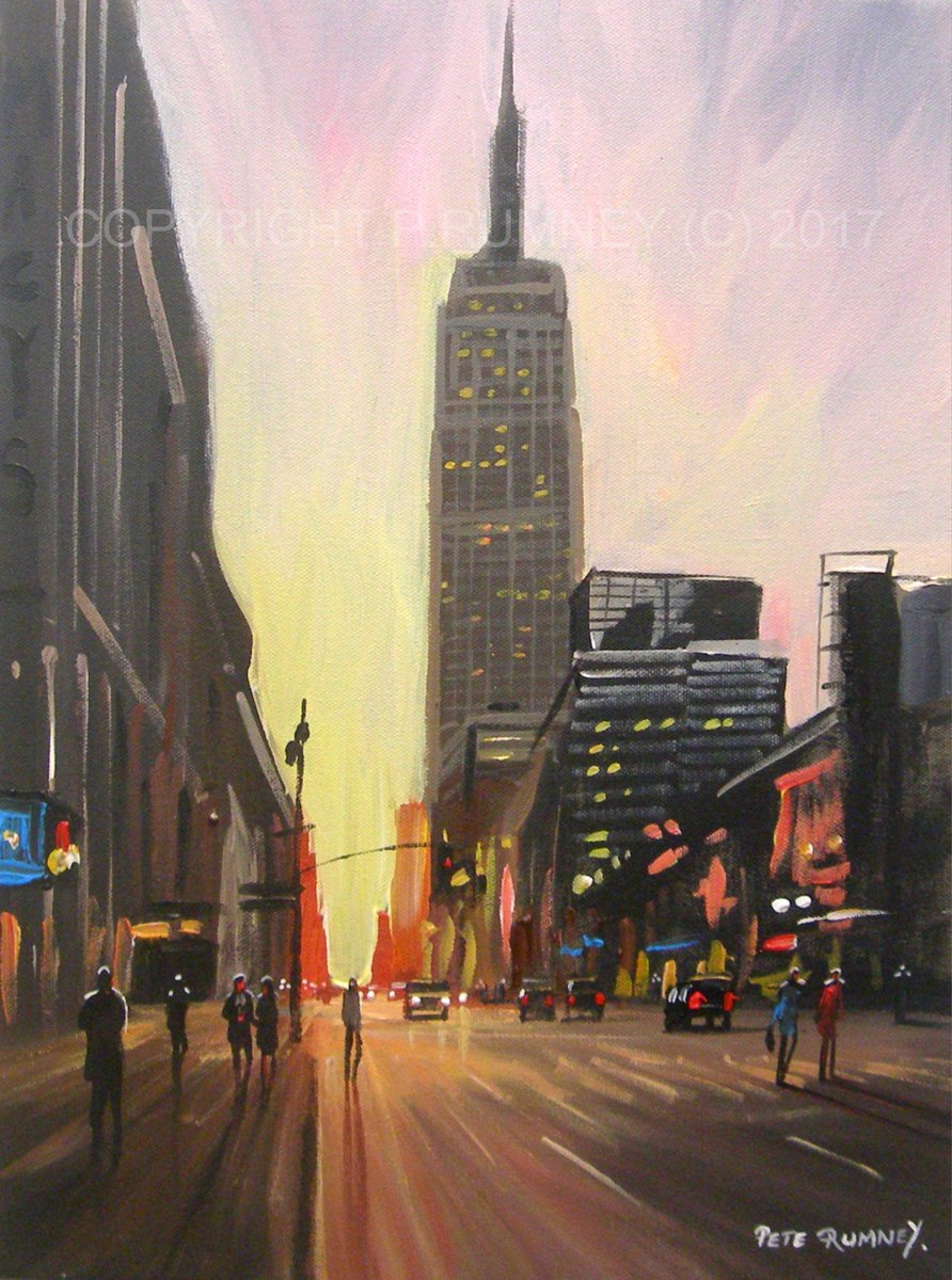 painted this sunset in New York for ya !  http://www. ebay.co.uk/itm/Pete-Rumne y-Art-Original-Canvas-Painting-New-York-Sunset-Empire-State-Building-/362107217788?ssPageName=STRK:MESE:IT &nbsp; …  #NYC #Art <br>http://pic.twitter.com/fCKRPsdD05