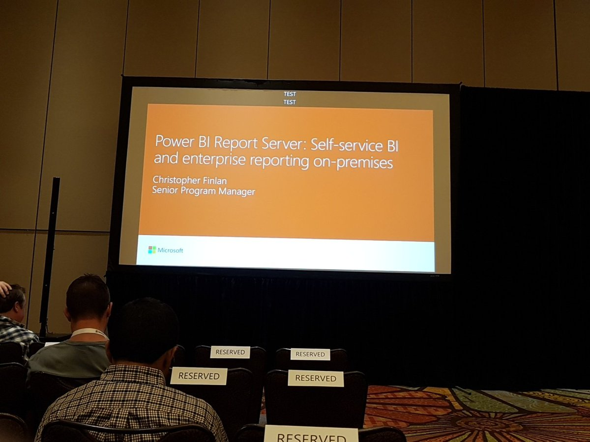 I am attneding: Self-service #BI and enterprise #reporting on-premises with #PowerBI Report Server at #MSIgnite. @cmfinlan<br>http://pic.twitter.com/fQfzHWUIcf