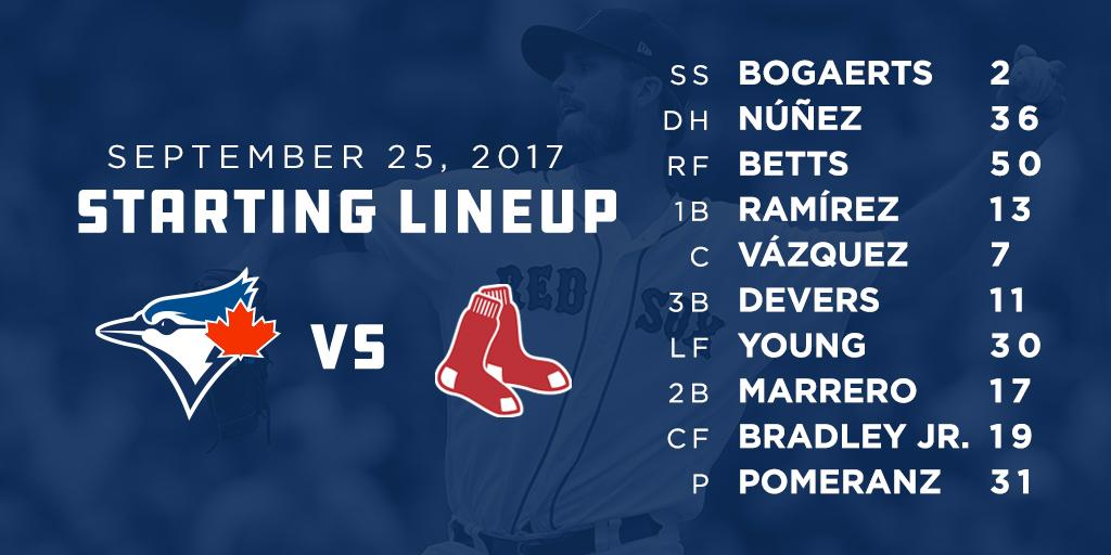 .@DrewPomeranz gets the start as the #RedSox return home to play Toron...