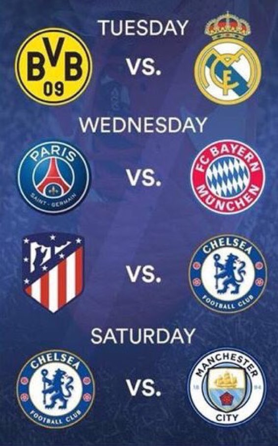 This week we are going to choke on good football... #UEFA #EPL<br>http://pic.twitter.com/k0Wl6TJ5Ne