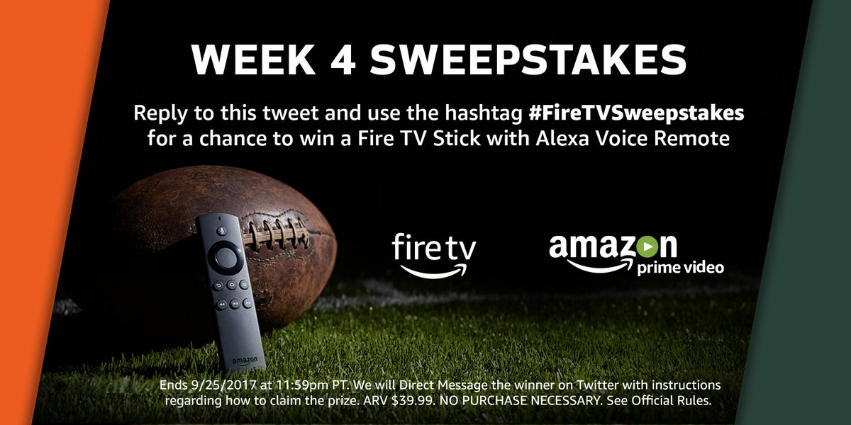 #GreenBay or #Chicago? Reply with your pick + #FireTVSweepstakes for a chance to win an @AmazonFireTV Stick! Rules:  http:// amzn.to/Rules  &nbsp;  <br>http://pic.twitter.com/simPMh1uV5