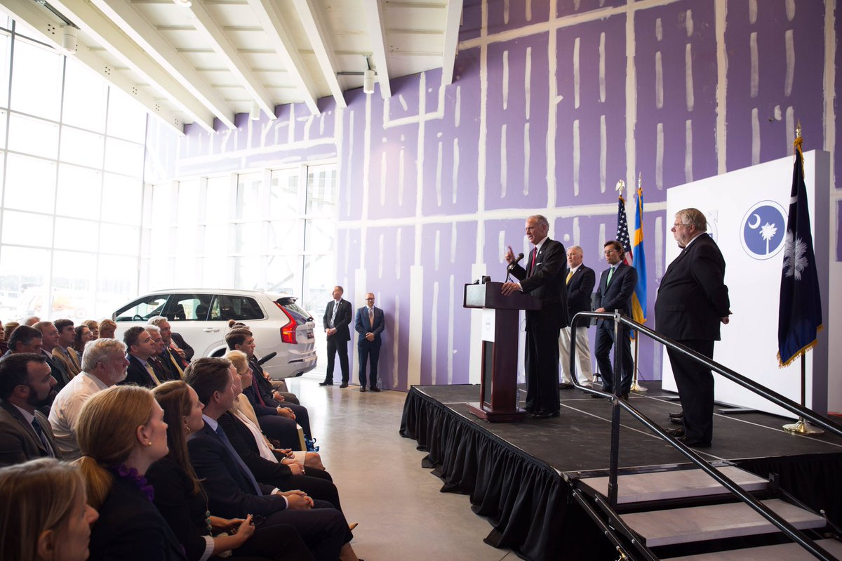 """gov. henry mcmaster on twitter: """"volvo is upping their commitment"""