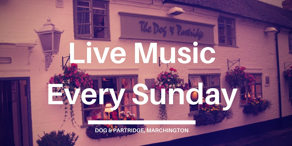 Free Live music at 5.30pm every Sunday near #Uttoxeter - See the lineu...