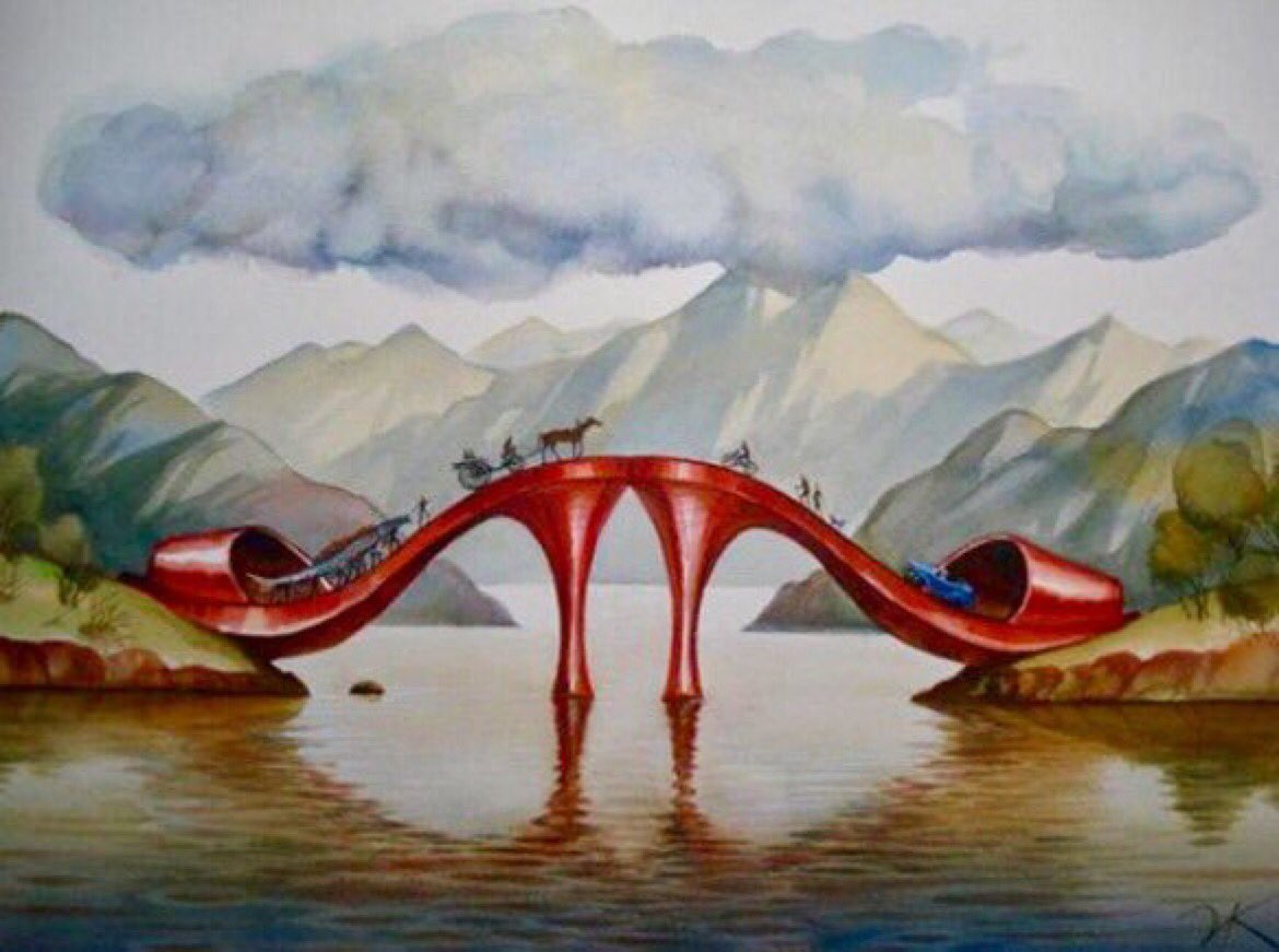 ❦The architecture of the mind&#39;s eye has no rules.~Anne Scottlin #amwriting #eye #imagination #shoes #bridge #design  #Art VladimirKush <br>http://pic.twitter.com/t9tnpQ3juG