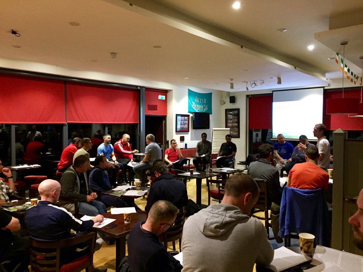 Full house at our club for the @FAIreland Safeguarding course. Thanks to @KeoghPaul. #alwayslearning @FAICoachEd #workhard #havefun <br>http://pic.twitter.com/oCzOTxTje1