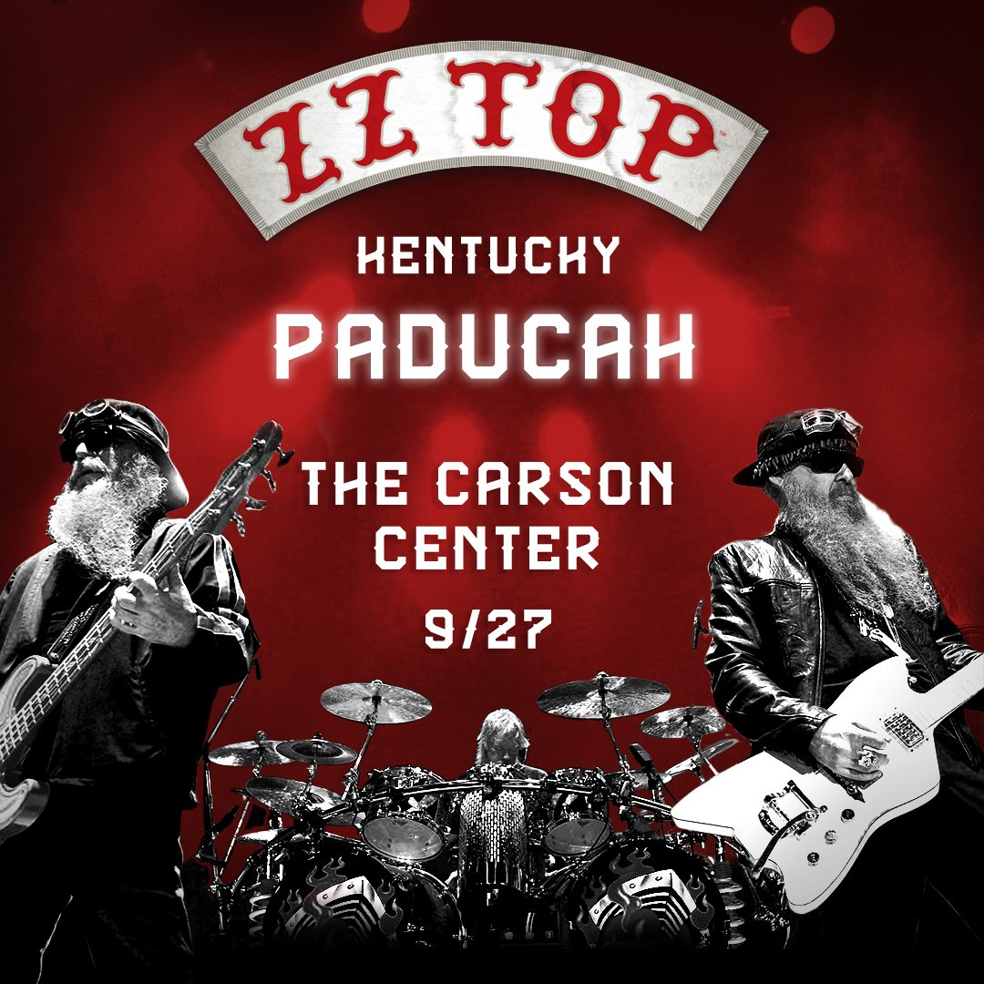 Zz Top On Twitter Only 2 Days Until Our Sold Out Show In Paducah Accessories Series Va 1 A Ky 9 27