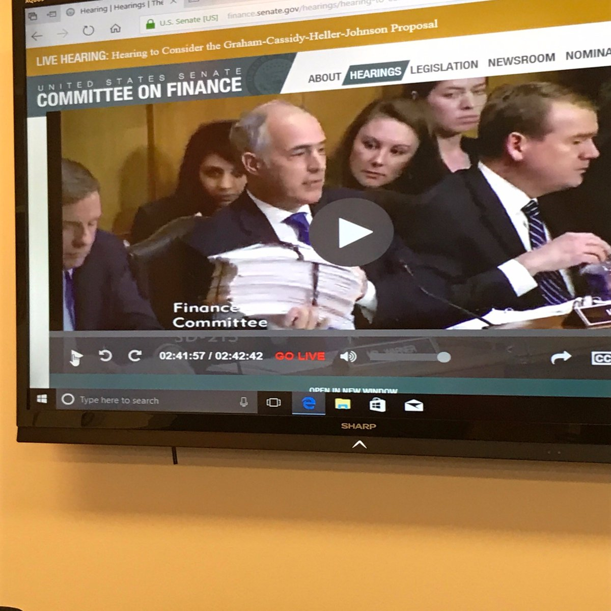 Thank you for the shout out @SenBobCasey &amp; for all of your advocacy on behalf of #PwD! #GrahamCassidy #SaveMedicaid #ProtectOurCare<br>http://pic.twitter.com/Zlp34bA1dY