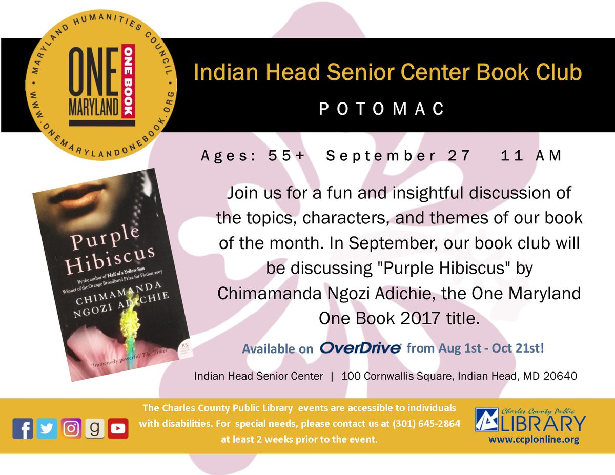 Charles County Public Library On Twitter Book Discussions For This