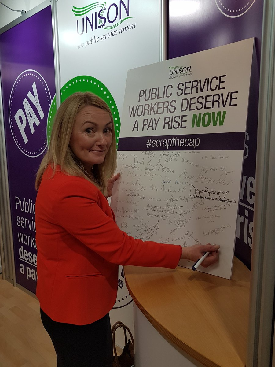 Signing the @unisontweets pledge - #scrapthecap and give public servic...