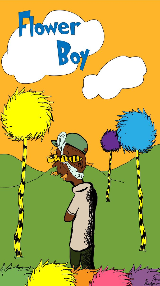 A little Suess x Tyler crossover I did #TylerTheCreator #DrSuess #Flowerboy #art <br>http://pic.twitter.com/f2QxsrcZUF
