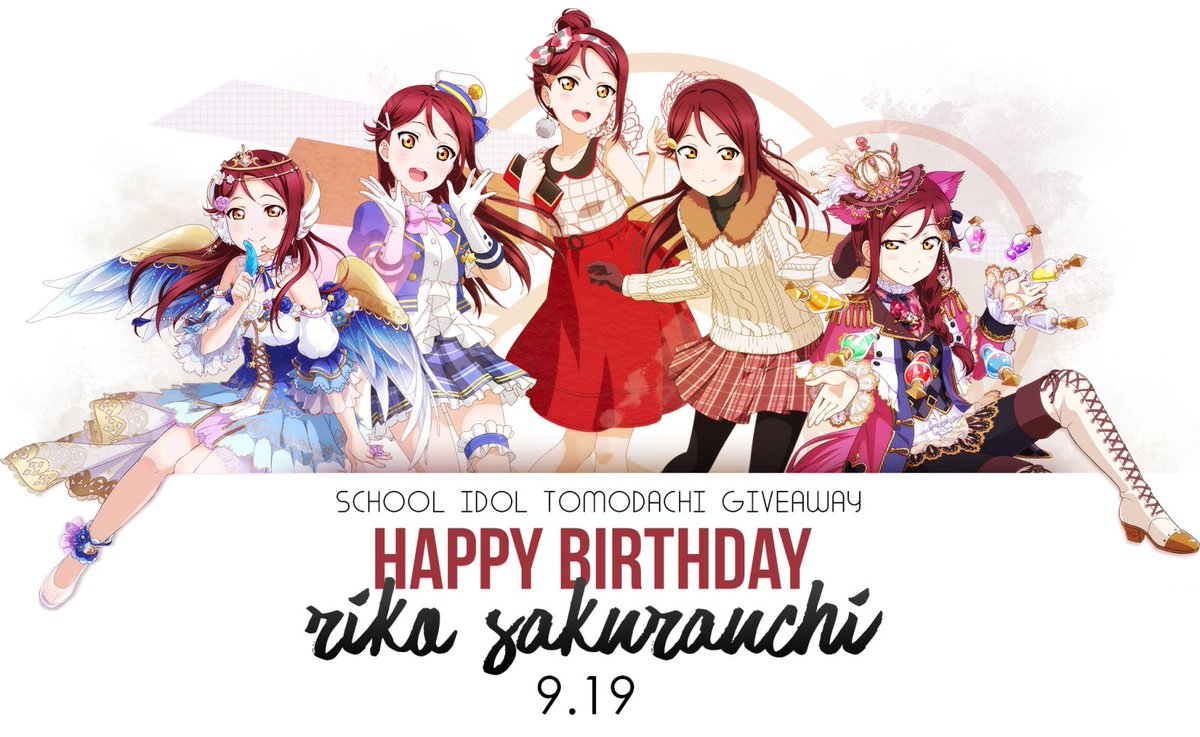 Don&#39;t forget to vote for your favorites in the  #RikoBirthdayGiveaway  http:// schoolido.lu/activities/695 2568/ &nbsp; …  #LLSIF #スクフェス #LoveLive #ラブライブ<br>http://pic.twitter.com/eOwaJAZ0Ej