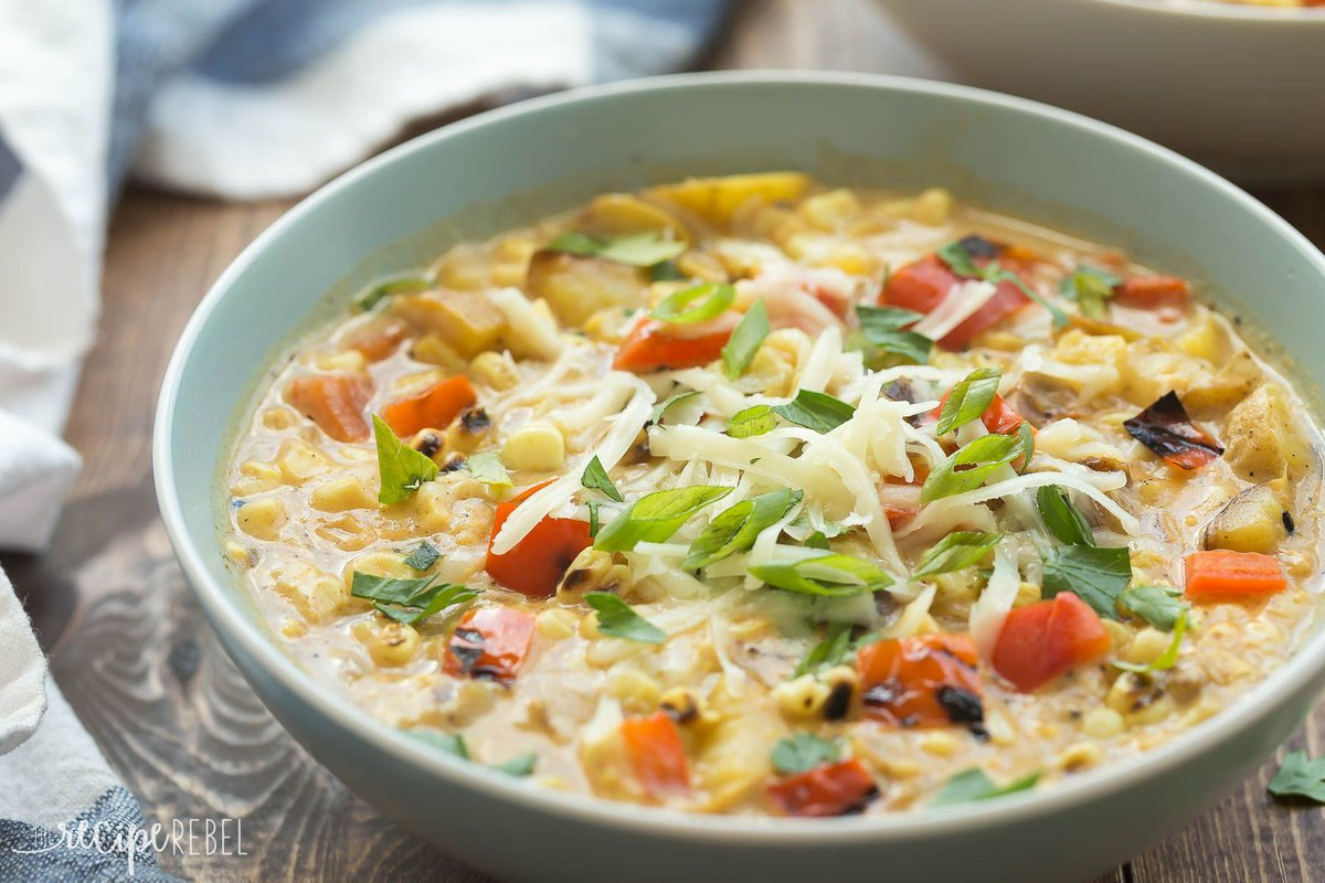 Have some leftover veggies? Toss them in this Smoky Southwestern Potato and Corn Chowder.  https:// buff.ly/2fqPP6n  &nbsp;   #potatoes #recipe <br>http://pic.twitter.com/4a5kb539RX