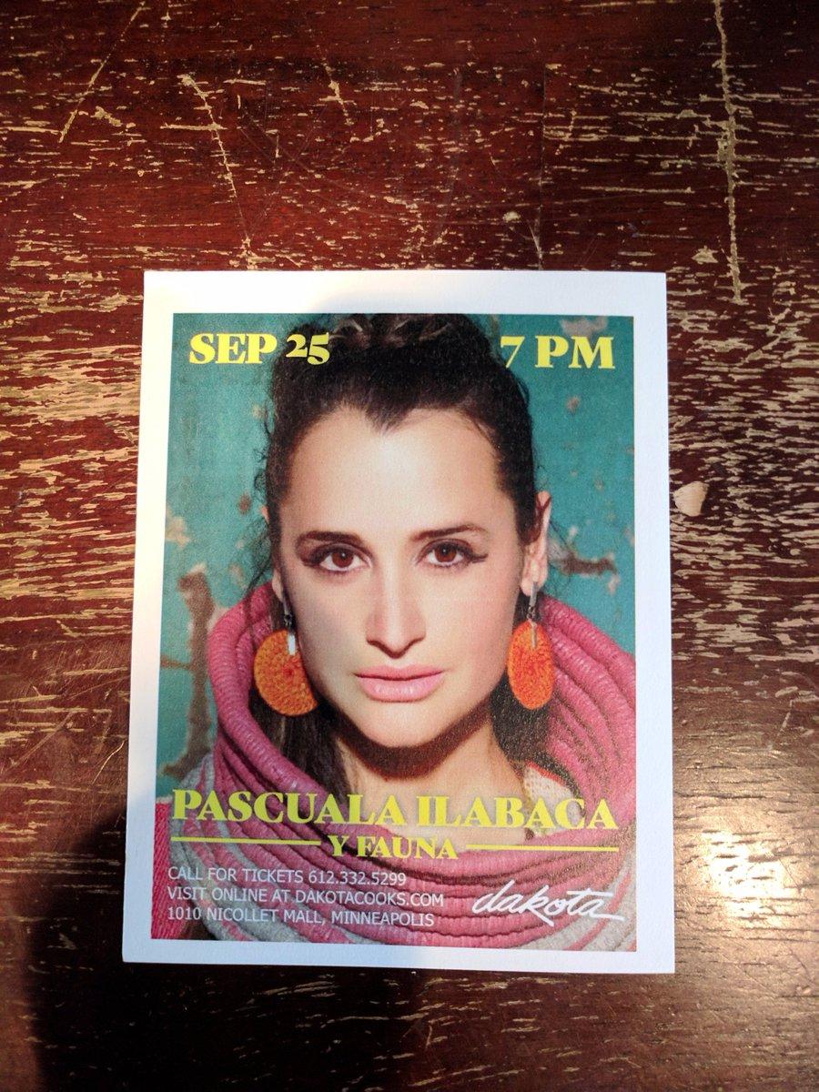 Tonight in #Minneapolis @DakotaJazzClub #WorldMusic #LatinMusic #LiveMusic #PascualaIlabaca<br>http://pic.twitter.com/001GvyOgRl
