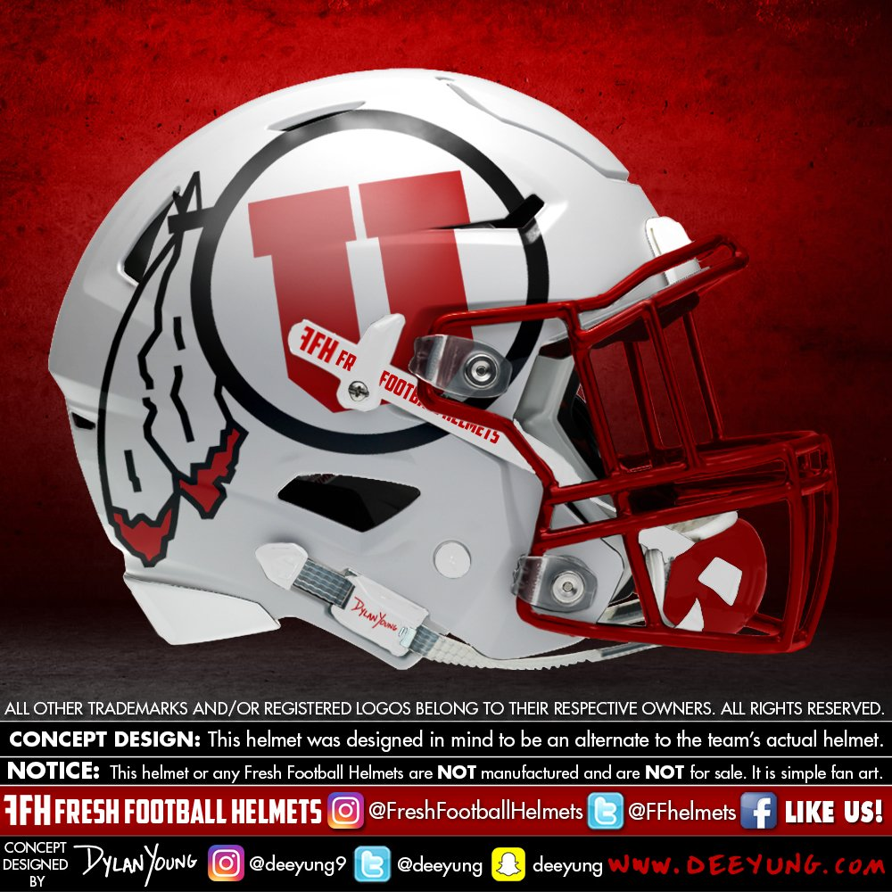 Utah Utes alternative football helmet