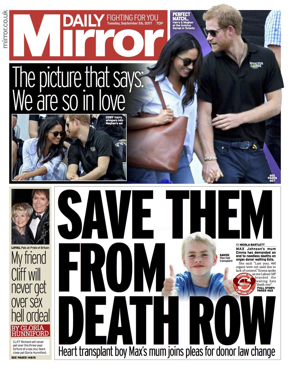 Tomorrow's front page: Save them from death row #tomorrowspaperstoday...