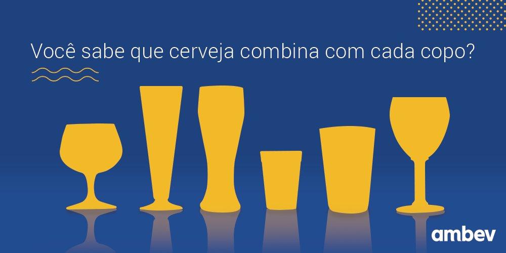 252ecc867 O copo certo realça o aroma, sabor e aparência da cerveja, e você aprecia  ainda mais a bebida. Adivinhe o modelo ideal para cada estilo!pic.twitter.com/  ...