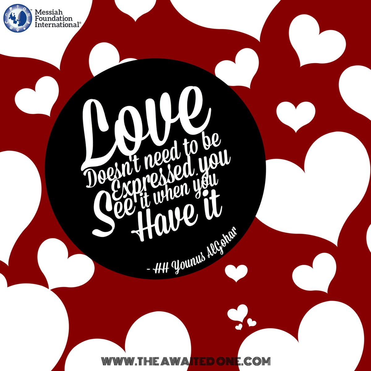 #QuoteoftheDay &#39;#Love does not need to be #expressed. You see it when you have it.&#39; - HH @YounusAlGohar<br>http://pic.twitter.com/gQW8r3bmB5