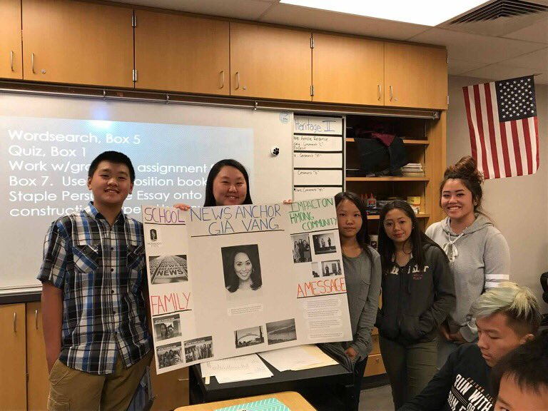 Gia Vang On Twitter Honored These Fresnounified Edison Hs Hmong Heritage Cl Students Did A Story About Me Gosh So Proud Of You Guys Gals
