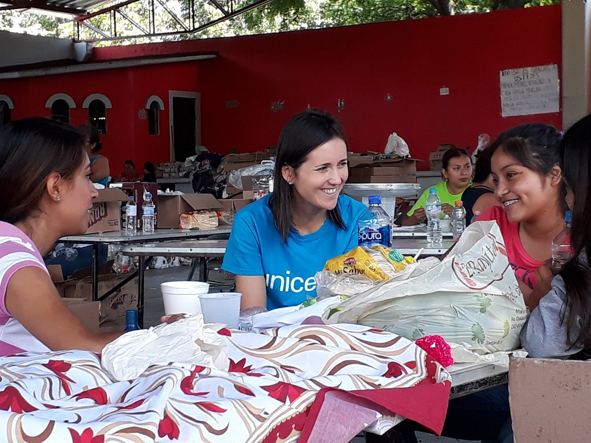 We're on the ground in Puebla and Morelos in #Mexico to address the needs after the earthquake @UNICEFMexico #sismo