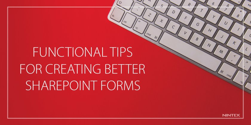 Functional Tips for Creating Better #SharePoint #Forms. Learn #bestpractices from @alexanderb in new [blog]:  http:// nintex.us/2jZqEfx  &nbsp;  <br>http://pic.twitter.com/YzR9RoJdEh