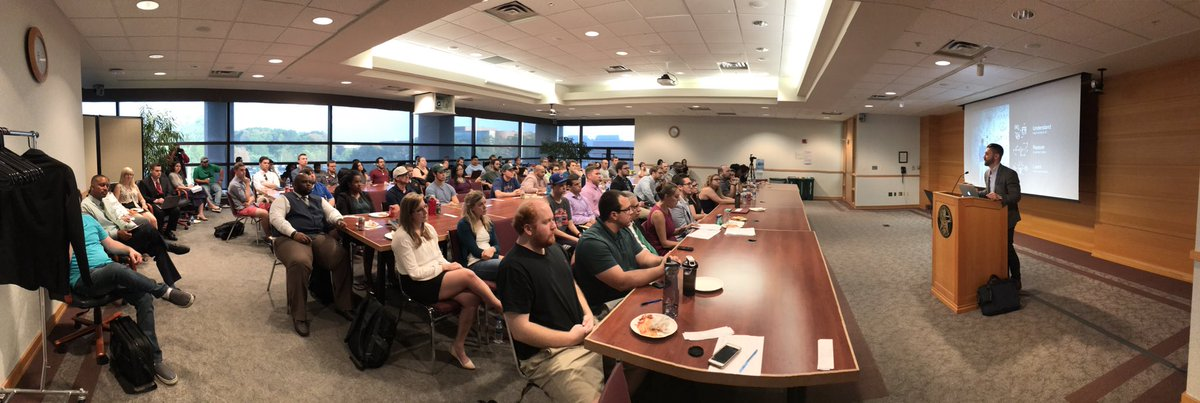Notes From the Field: Current &amp; Future Impact of #AI on Biz of Law  Great turnout for @lexcuriae #LegalRnD talk  #LegalTech #LegalData #A2LS<br>http://pic.twitter.com/IHkPHfeYfJ &ndash; at MSU College of Law