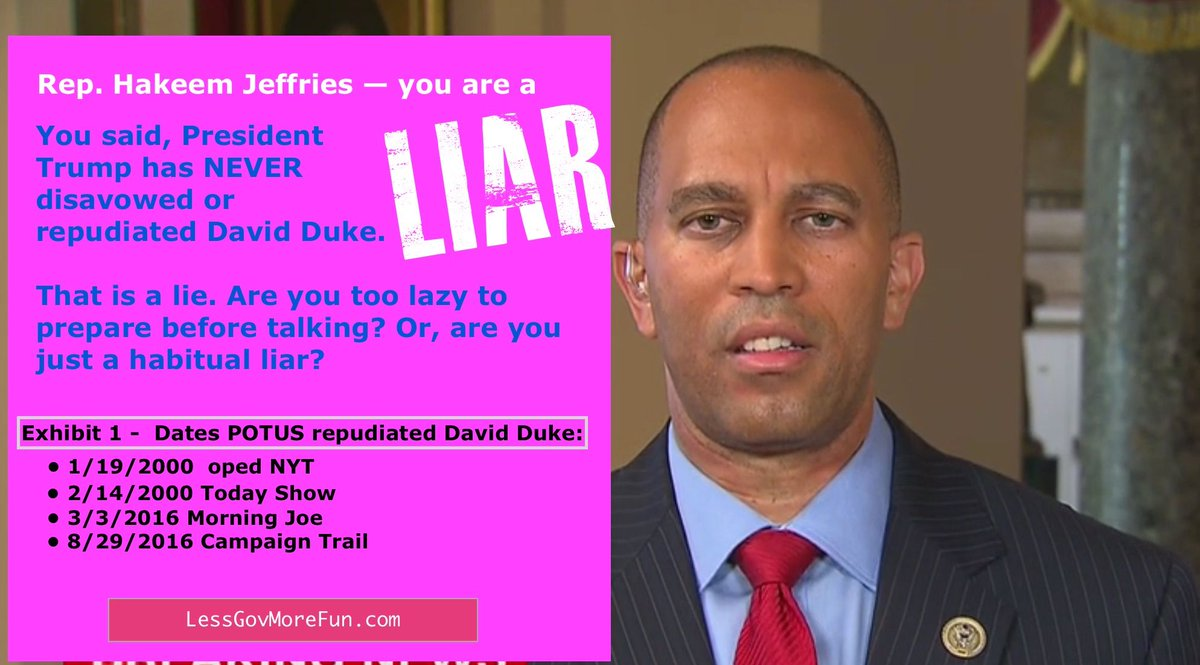 . The left resorts to LIES &amp; hatred to capture #FakeNews on #CNN, like Rep. Hakeem Jeffries just did re: #PresidentTrump!  #Busted #DNC #WAR<br>http://pic.twitter.com/jik11XPbyt