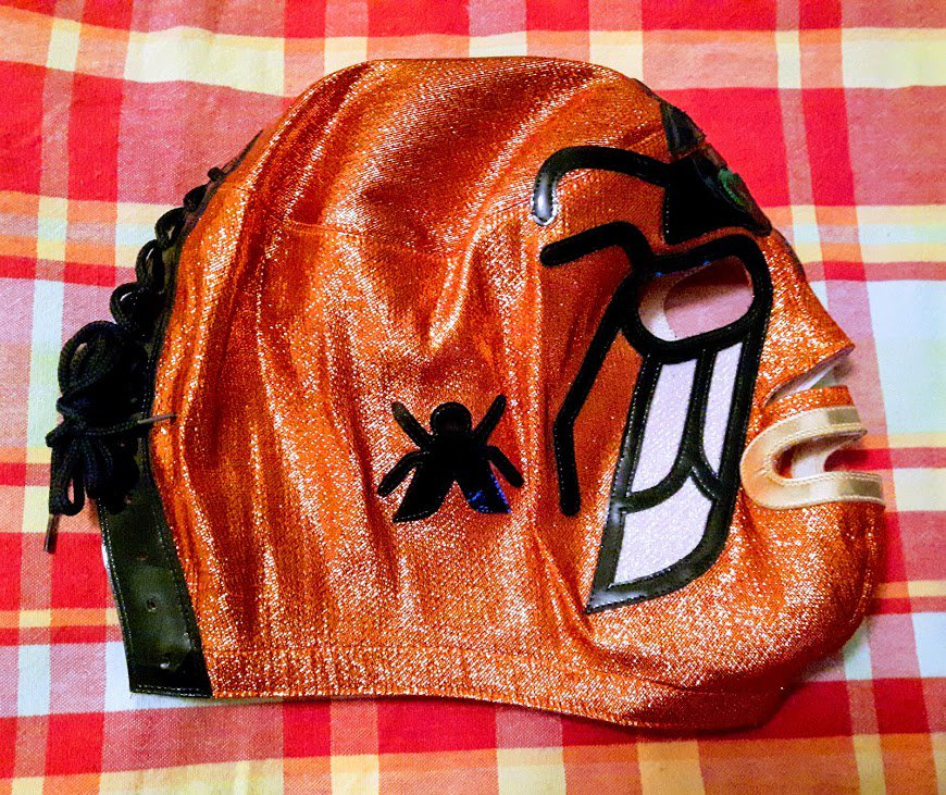 Check out this ridiculously awesome Mil Mascaras mask I have in my collection. #luchalibre <br>http://pic.twitter.com/OE8X0lVb5S