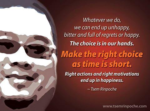 Make the right #decision  #lifelessons #impermanence #spirituality #selfimprovement #cestlavie #future #dharma #buddhism #mind @tsemtulku<br>http://pic.twitter.com/HuL1LUkiRJ