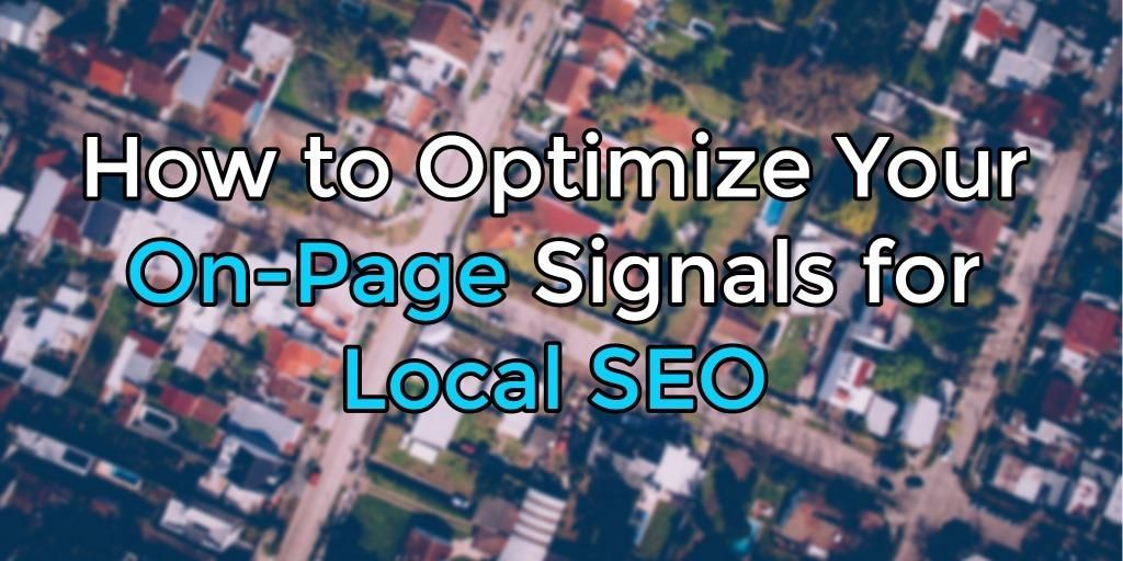 How to Optimize Your On-Page Signals for #LocalSEO via @senginepeople  https:// buff.ly/2fsCnC5  &nbsp;   #Seo<br>http://pic.twitter.com/qvbMR0kRq6