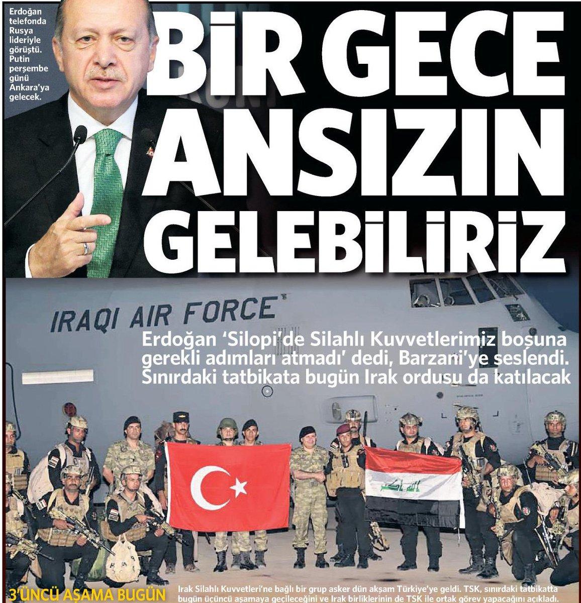 Erdoğan'ın o sözleri manşetlerde https:/...