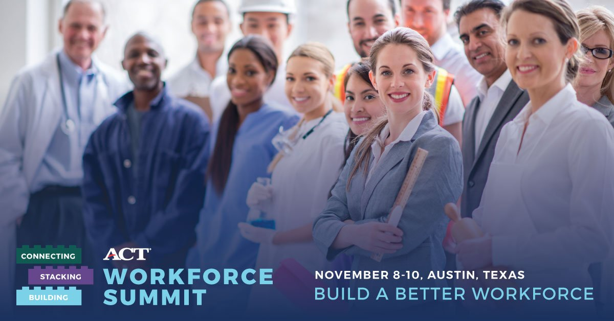 The ACT Workforce Summit is a great opportunity to learn best practices from #workforce and #development leaders:  http:// bit.ly/2utuz8j  &nbsp;  <br>http://pic.twitter.com/ogCV2QXgZO
