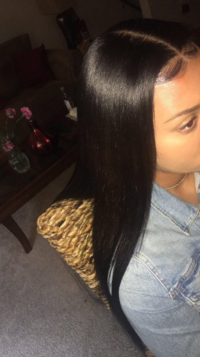 Hair Weave Killa On Twitter Middle Part Sew In Bone Straight