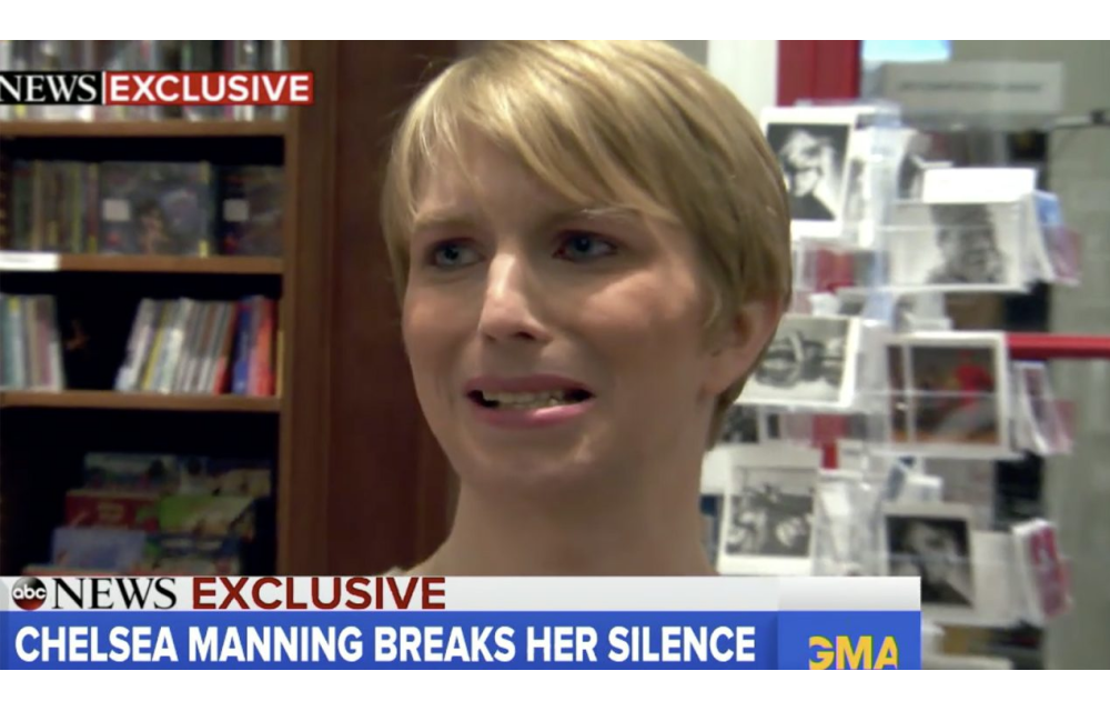 Chelsea Manning is SHOCKED to discover he's subject to a travel ban ht...